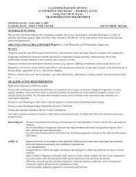 General Mechanic Resume Objective Archives Save Valid Example Luxury Sample Automotive Technician S Resu Full Size