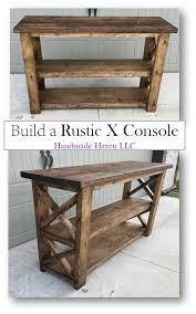 Step By How To Rustic X Console
