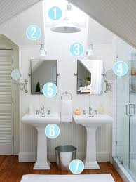 Small Double Sink Vanity by Get This Look Bright White Double Vanity Bath Remodelaholic