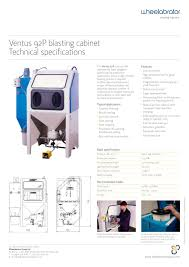 Media Blasting Cabinet Lighting by Ventus 92p Blasting Cabinet Wheelabrator Pdf Catalogue