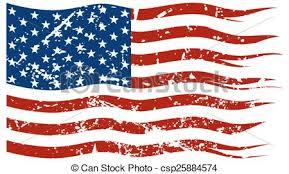 Drawn American Flag Tattered 7