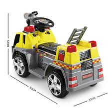 100 Kids Electric Truck Fire Rigo Ride On Car Yellow 15999 All Things For