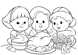 Cute Printable Thanksgiving Coloring Pages Happy Sheets For Adults Free Preschoolers Full Size