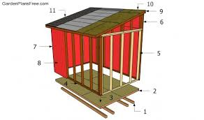 10x20 Shed Floor Plans by Lean To Shed Plans Free Free Garden Plans How To Build Garden