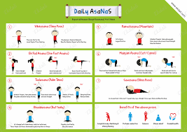 Yoga Daily Asanas Poster And Charts For Kids