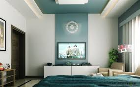 Teal Accent Wall With Stylish White Curtain For Extraordinary Modern Family Room Design Ideas