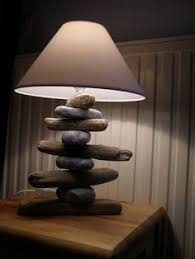 La Tee Da Lamp Stone by Beach Stone Lamp Off Center Lamps Lampshades Pinterest Rock