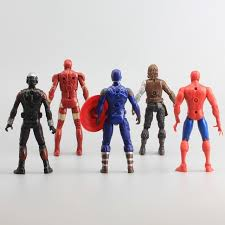 Avengers Captain America Civil War Iron Man Ant Falcon Spiderman Machine PVC Action Figure Model Toys 10 Pcs Set 16cm