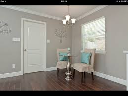 behr perfect taupe for the master love it with the pop of
