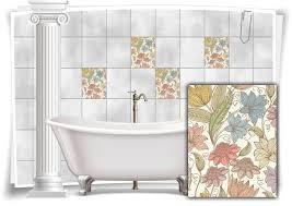 fliesen aufkleber fliesen bild kachel blumen pastell farben abstrakt bad wc deko küche