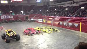 100 Monster Trucks Green Bay Maximum Destruction Freestyle Jam In 2013 YouTube