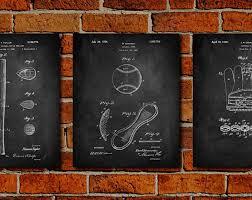 baseball set canvas art patent print poster patent print art home