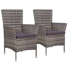 Amazon.com : Festnight Patio Dining Chairs Set Of 2 Outdoor Wicker ... Red Barrel Studio Dierdre Outdoor Wicker Swivel Club Patio Chair Cosco Malmo 4piece Brown Resin Cversation Set With Crosley Fniture St Augustine 3 Piece Seating Hampton Bay Amusing Chairs Cushions Pcs Pe Rattan Cushion Table Garden Steel Outdoor Seat Cushions For Your Riviera 4 Piece Matt4 Jaetees Spring Haven Allweather Amazoncom Festnight Ding Of 2
