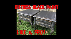 DIY Black Distressed Furniture Cabinets W Chalk Paint