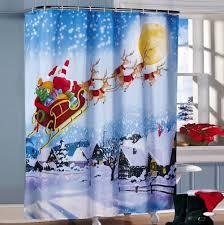 feiliandajj weihnachten deko duschvorhang anti schimmel