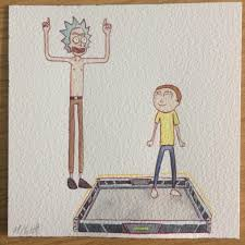Desk Blotter Paper 20 X 36 by True Level Rickandmorty