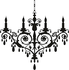 Wall Decals Chandelier Clip Art