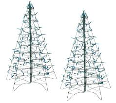 Connect Martha Stewart Pre Lit Christmas Tree by S 2 Pre Lit 3 U0027 Fold Flat Outdoor Christmas Trees By Lori Greiner