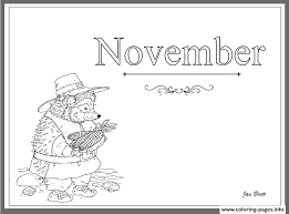 Coloring Months Of The Year November Pages