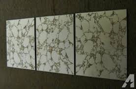 12x12 Antique Mirror Tiles by Three 12x12 Vintage Retro Gold Vein Mirror Tiles For Sale In