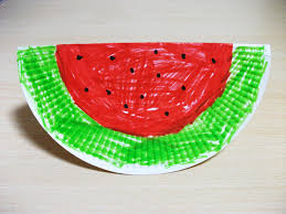 Preschool Crafts For Kids Summer Watermelon Paper Plate Craft ISi2IqPm