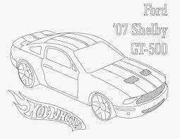 Hot Wheels Coloring Pages Ford Shelby