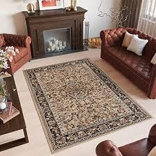 tapiso scarlet teppich wohnzimmer klassisch traditionell beige blumen floreal pelo corto 140 x 200 cm beige