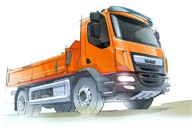 100 Truck Design DAF LF Construction Sketch Sketch Design