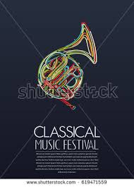 Classical Music Event Poster Vector Illustration