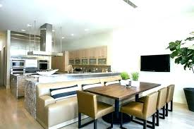 Dining Table With Booth Seating Room Kitchen Contemporary