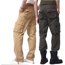 2017 hommes de pantalon cargo casual mens armée pantalon multi
