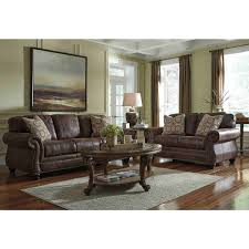 Claremore Antique Sofa And Loveseat by Ashley Furniture Breville Livingroom Set In Espresso Local