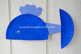 Blue Whale Paper Plate Craft