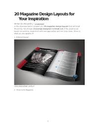 100 Magazine Design Inspiration 20 Layouts For Your Advertising