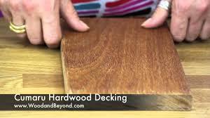 Cumaru Hardwood Flooring Canada by Cumaru Hardwood Decking Youtube