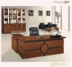 Manufacturers melamine modern executive office table design with L