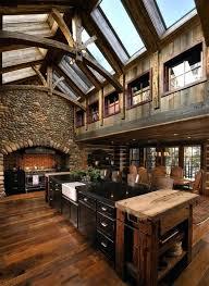 Stone And Wood House Log Cabin Interior Design Cabin Decor Ideas