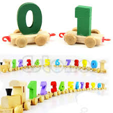 new children toddlers baby digital small 0 9 number wooden train