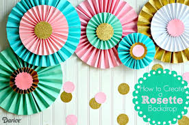 Diy Party Decorations How To Make Paper Rosettes Supplies Garden