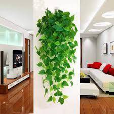 1pcs künstliche pflanzen reben grün rattan gefälschte hängende pflanze faux hängende blumen rebe für wand innen