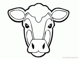Animal Coloring Face Mask Template Cow Printable