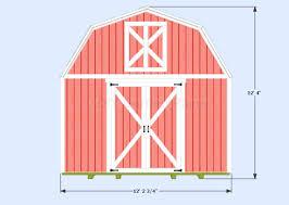 12x12 Shed Plans With Loft by Diy Gambrel Shed Guide 12 U0027x12 U0027
