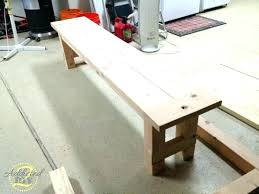 Diy Dining Table Bench Rustic White Beginner Farm Benches Tools On Seat