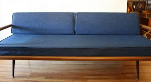 Mcm Blue Splayed Couch 2