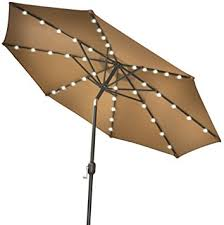 amazon com strong camel 9 new solar 40 led lights patio umbrella
