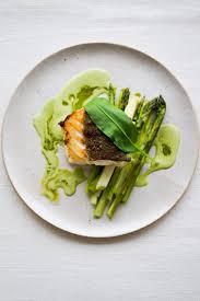 cuisine emulsion dashi braised cod vegetables garlic emulsion