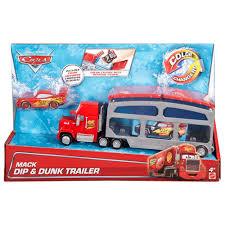 Disney/Pixar Cars Mack Dip & Dunk Trailer With Lightning McQueen ...
