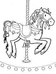 Merry Go Round Coloring Pages