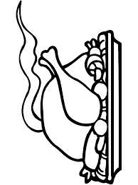 Thanksgiving Coloring Page Turkey Dinner