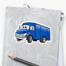 Blue Beverage Truck Cartoon